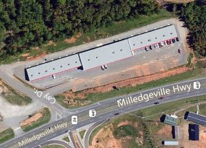 1001 Milledgeville Road aerial - commercial building
